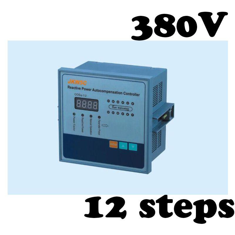 Jkw5c 12 Power Factor Regulator Compensation Controller For Power Factor Capacitor 12steps 380v Capacitor Power Control