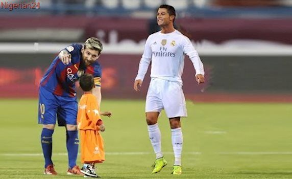Image result for ronaldo helping messi up