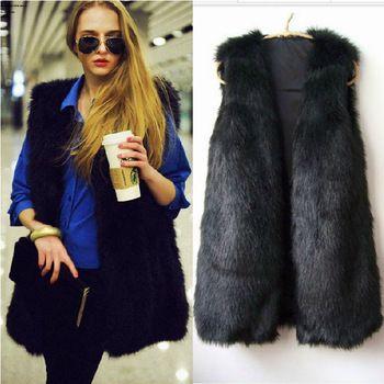 Kamizelka Futro Futerko Futrzana Mis Japan Style 3636695991 Oficjalne Archiwum Allegro Black Fur Vest Women Faux Fur Vest Waistcoat Fashion