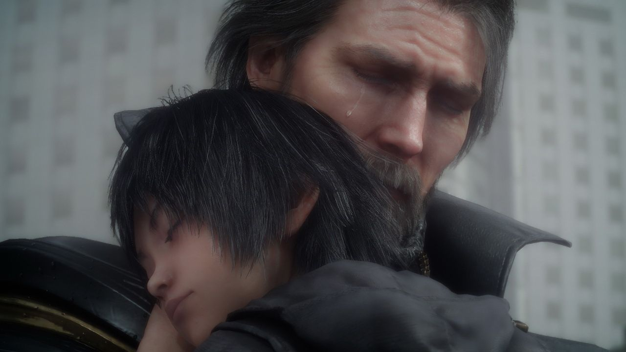 A Close Up Shot Of King Regis And Young Noctis Final