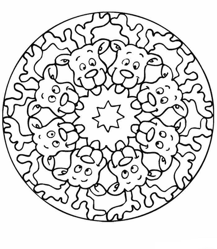 Mandala rendieren kleurplaat | Mandala\'s | Pinterest | Ausmalbilder