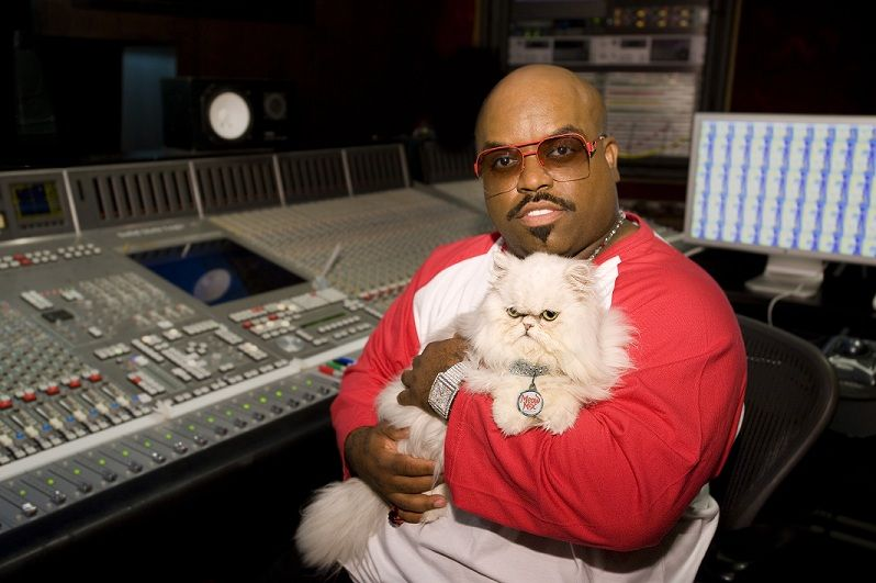 Photo of Cee Lo Green & his  Cat