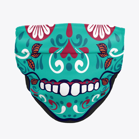 Smiling skull mask. Mexican skull smile cloth face mask