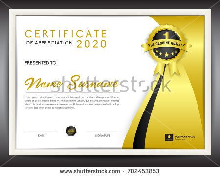 certificate template vector illustration, diploma layout in a4 - certificate layout