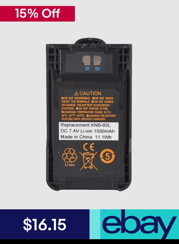 KNB-65L Li-ion Battery For Kenwood TH-K20E TH-K20A TH-K40E Portable Radio