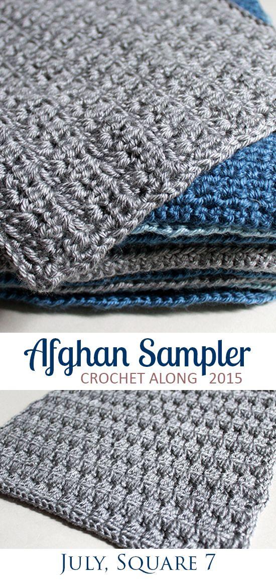 Square 7! Crochet Along Afghan Sampler (July) | Afghan Sampler ...