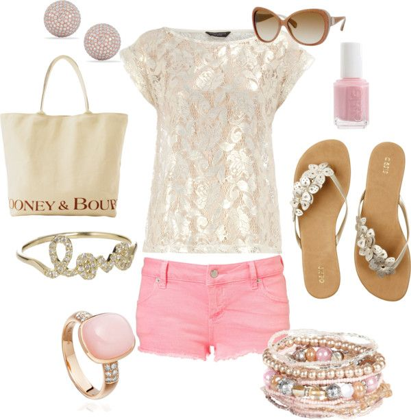 """""""Romantic and feminine"""" love this outfit for summer date nights! Or going out anywhere! Cute!"""