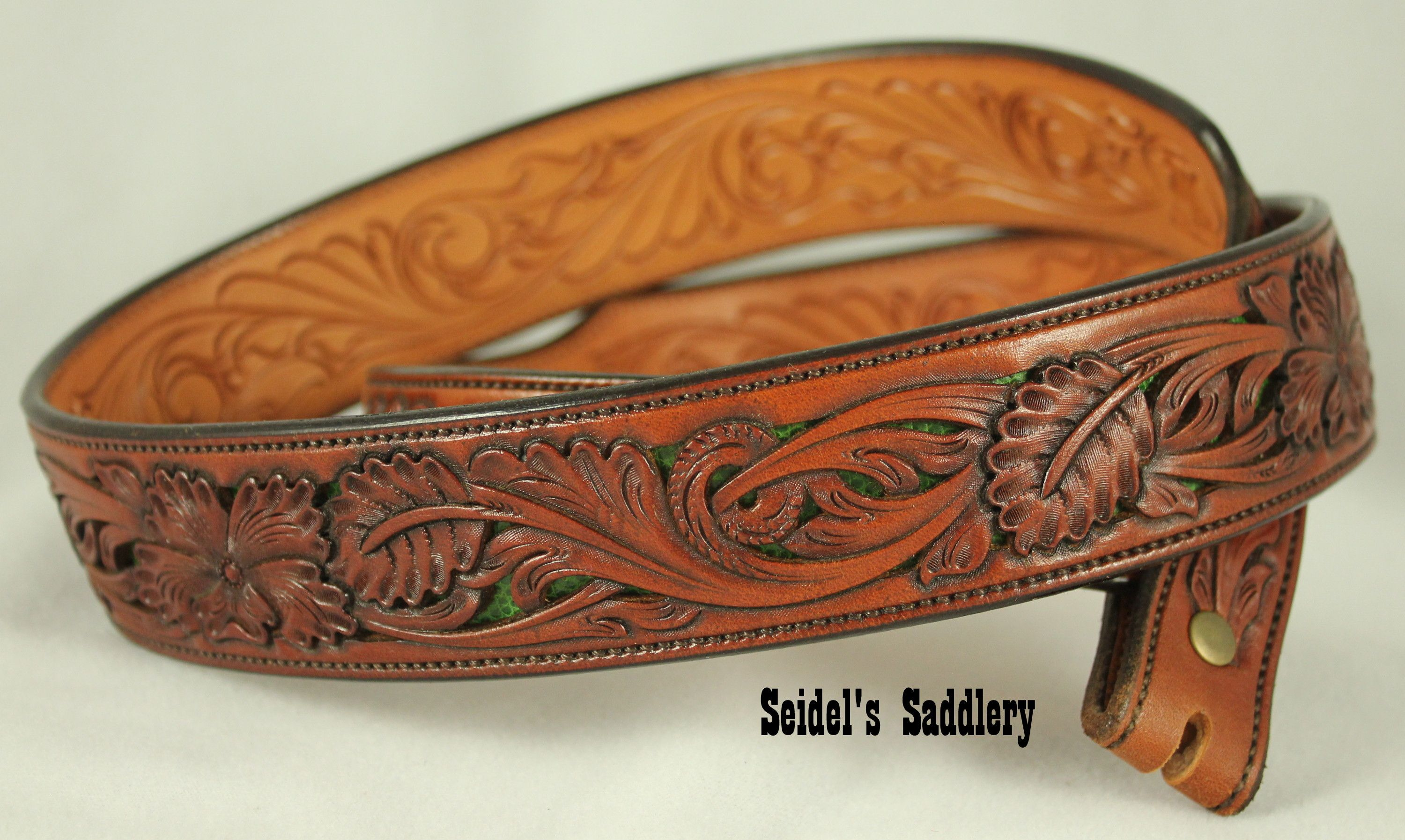 Keith seidel s saddlery hand tooled belt filigree