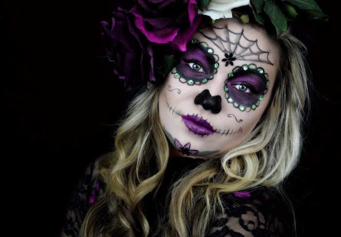 Fabuleux ▷ 1001+ idées | Costumes, Halloween makeup and Sugar skull halloween FI68