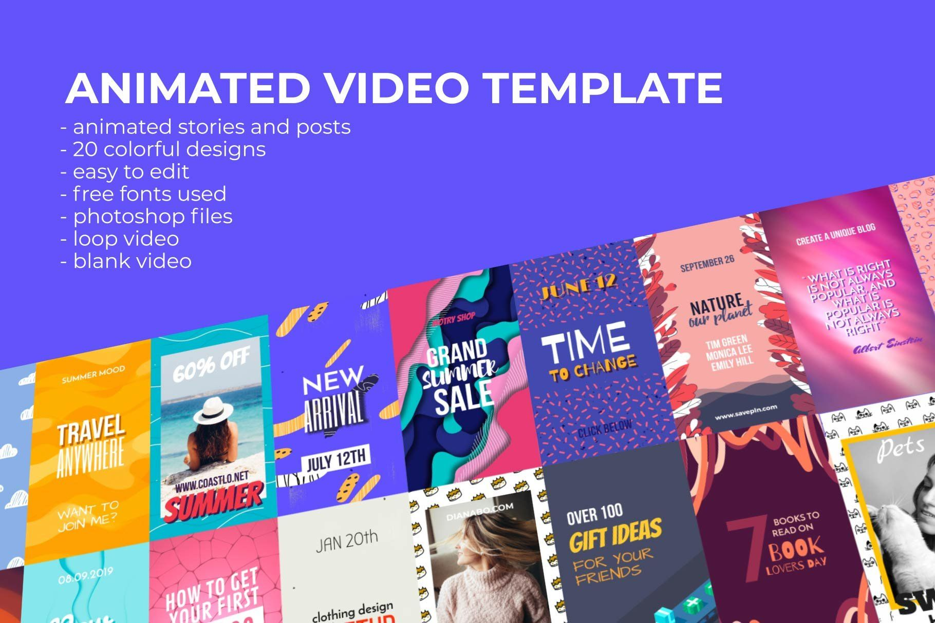 Animated Video Templates Video Template Facebook Templates