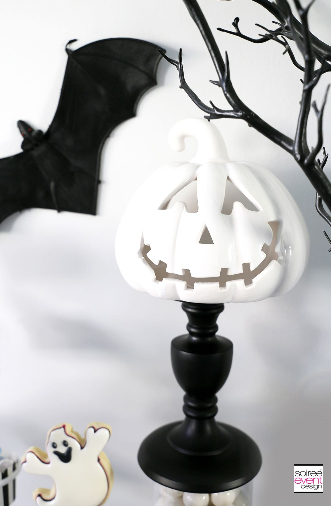 Boo Black And White Halloween Party White Halloween Party Black And White Party Decorations Halloween Party Decor