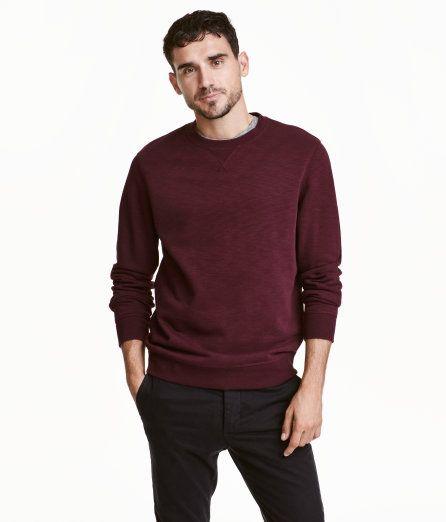d7df6b71 Sweatshirt | Burgundy melange | Men | H&M US | gifts for the boy ...