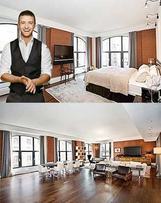 Justin timberlake 39 s house inside the homes of rich and for Inside homes rich famous