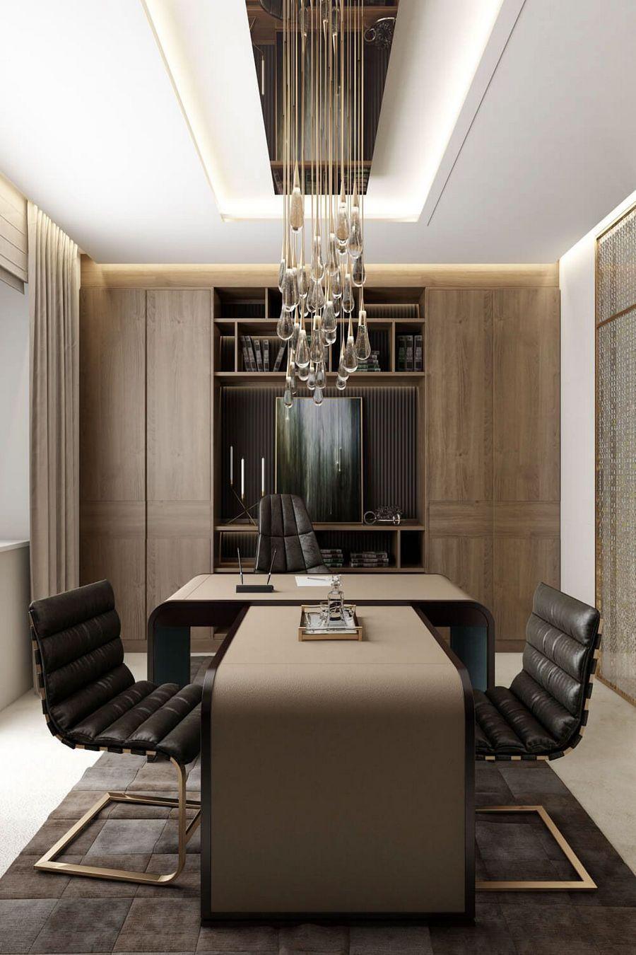 Contemporary Executive Office Modern Ev Tasarimi Ofis Ic Dekorasyonu Ev Ic Mekanlari