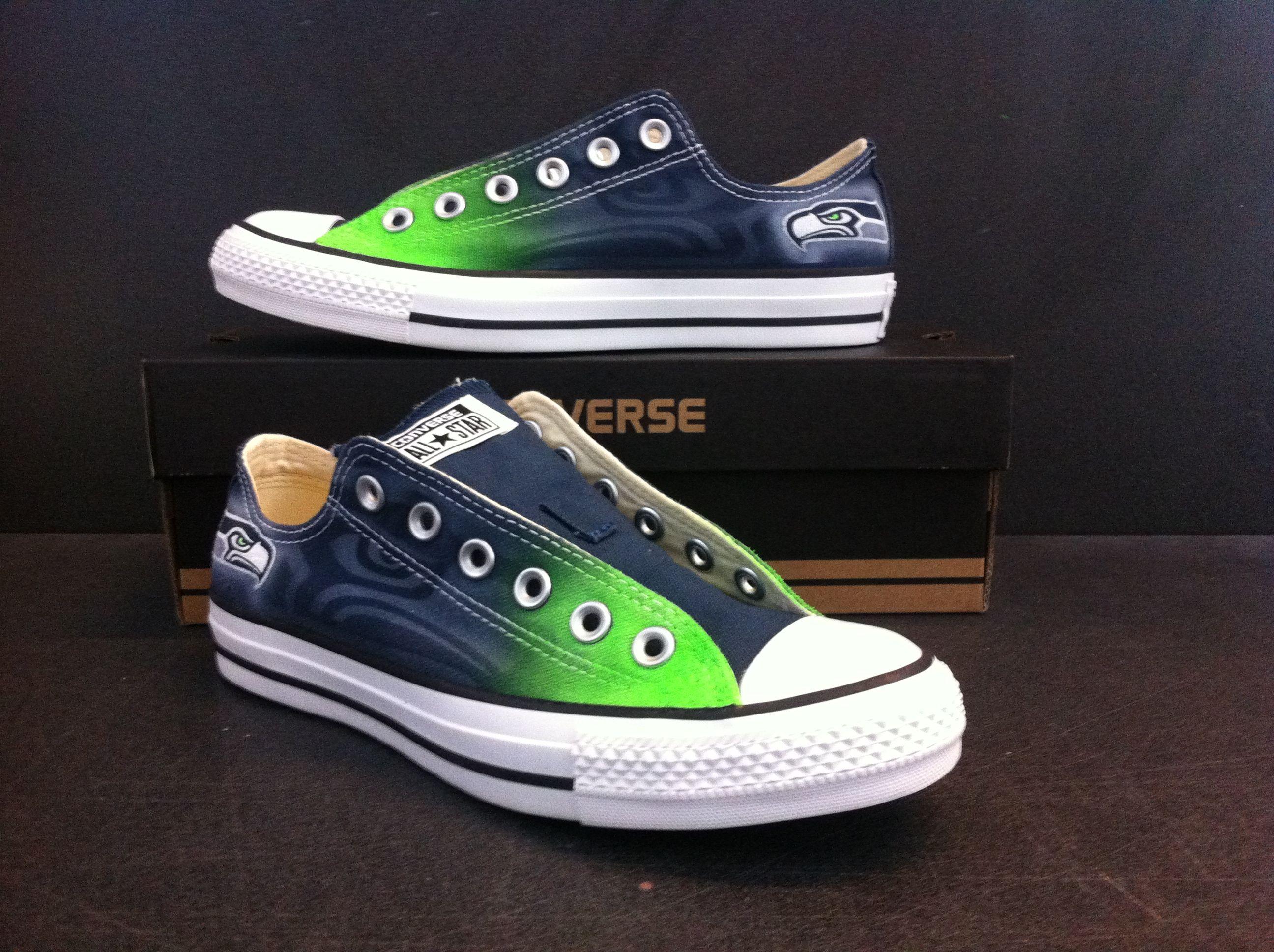 86d646487d415a Converse Green Fade Seahawks by Eye Kandy Design