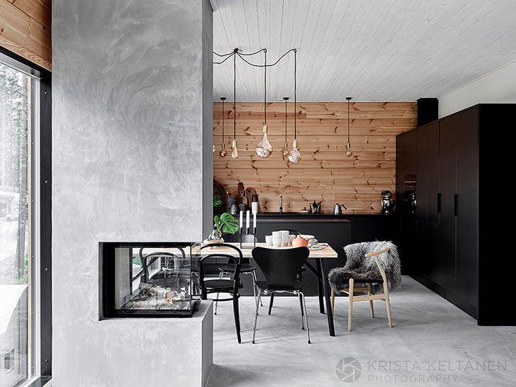Chisto Skandinavskij Derevyannyj Dom V Finlyandii Foto Idei Dizajn Modern Wooden House Modern Cabin Interior Modern Cabin