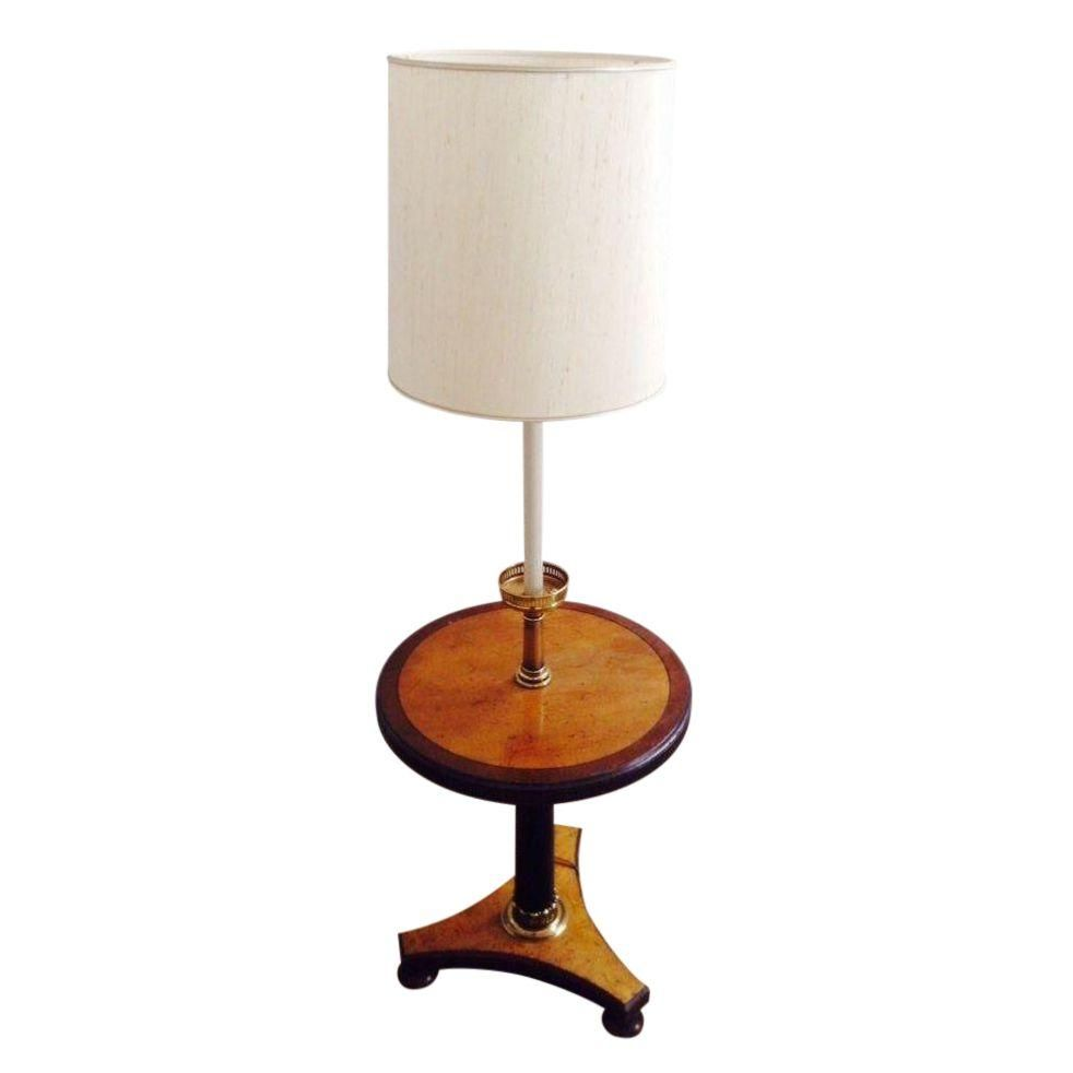 Vintage Floor Lamp Side Table Combo Side Table Lamps Vintage