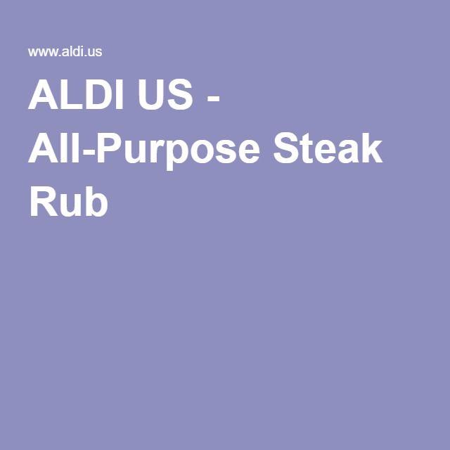 ALDI US - All-Purpose Steak Rub #steakrubs