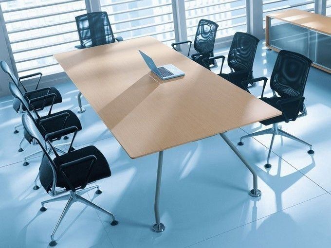 Chef Schreibtisch XEON Naturholzfurnier | Chefschreibtisch ...