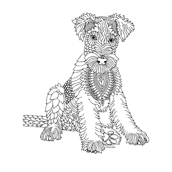 The Dog printable coloring page by Keiti coloring