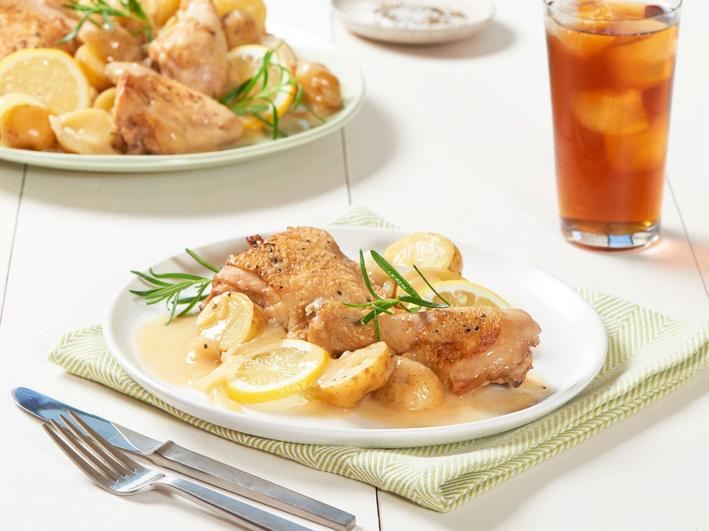 One-Pot Lemon-Braised Chicken with New Potatoes