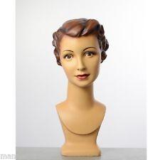 tete de mannequin femme vintage pour casque chapeau ou perruque
