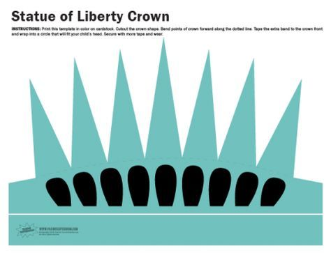 free printable statue of liberty crown in 2018 camp and