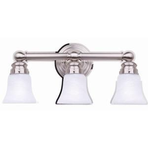 Hampton bay 3 light brushed nickel bath sconce 05381 at the home hampton bay 3 light brushed nickel bath sconce 05381 the home depot mozeypictures Images