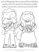 Some Great Food Allergy Coloring Pages