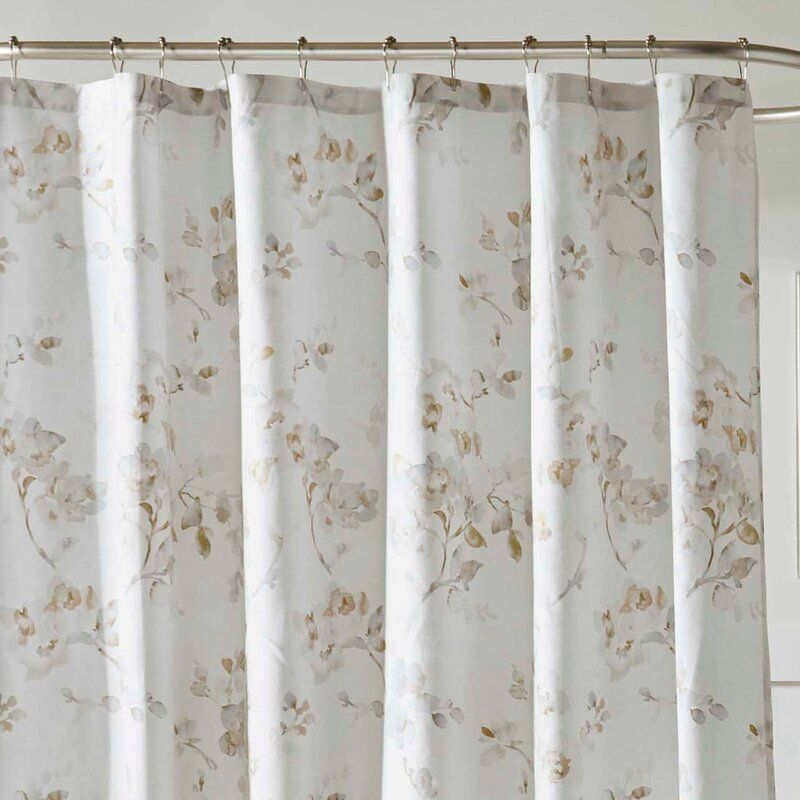 Laura Ashley Mila 100 Cotton Single Shower Curtain