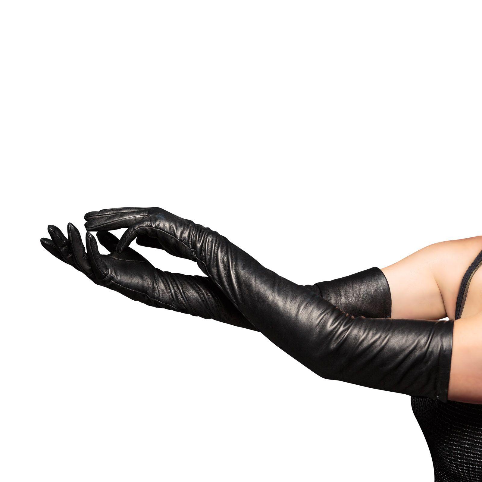 Womens Opera Leather Gloves Long Black Pinterest Long Gloves