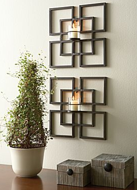 Metal Wall Decor With Candles Lanzhome Com In 2020 Decor
