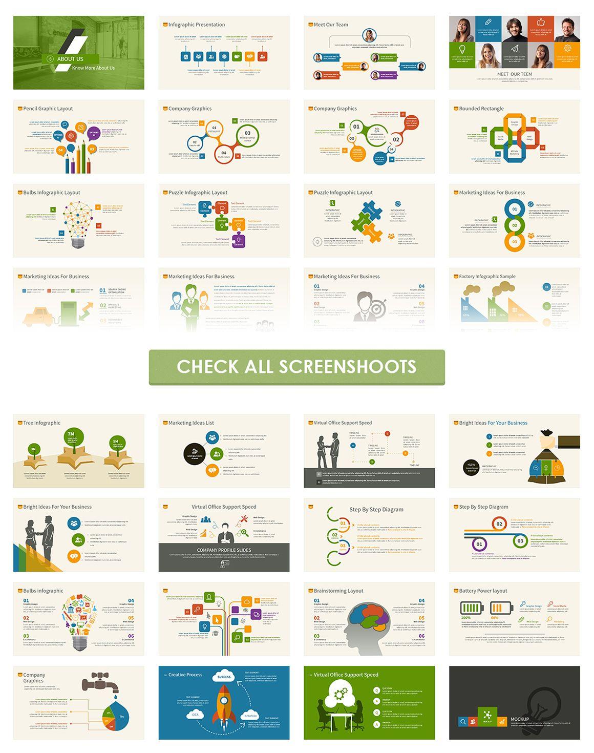 Infographic Powerpoint Template | Ateliers, Infografik und Kreativ