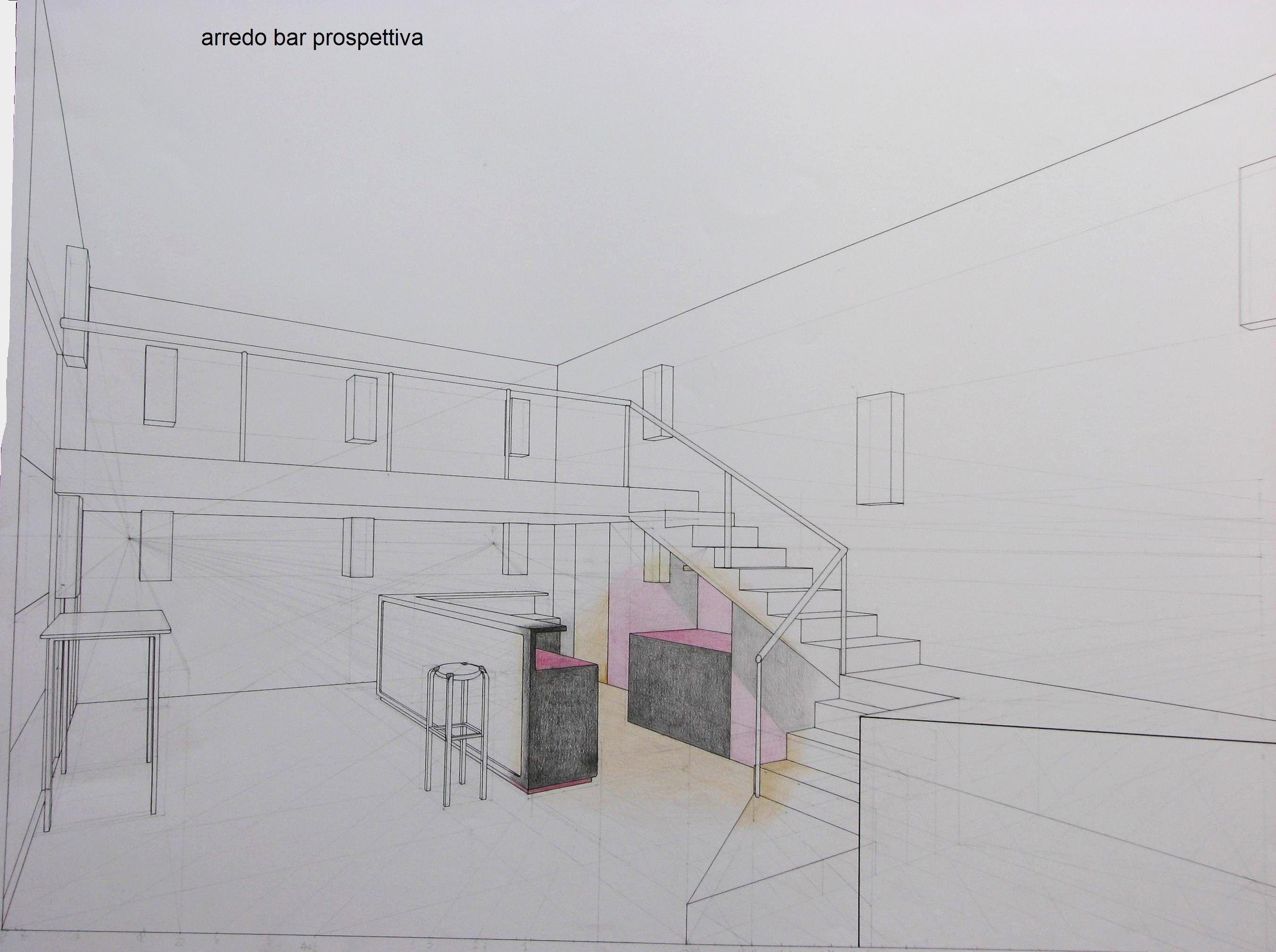 Disegno prospettico stanza disegnare mobili in for Progettare una stanza