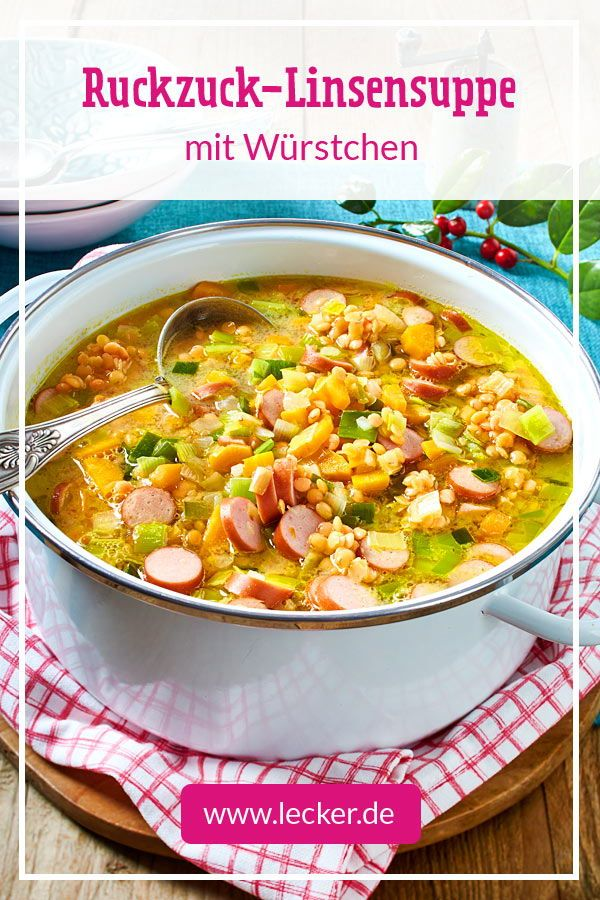 Photo of Receta rápida de sopa de lentejas | DELICIOSO