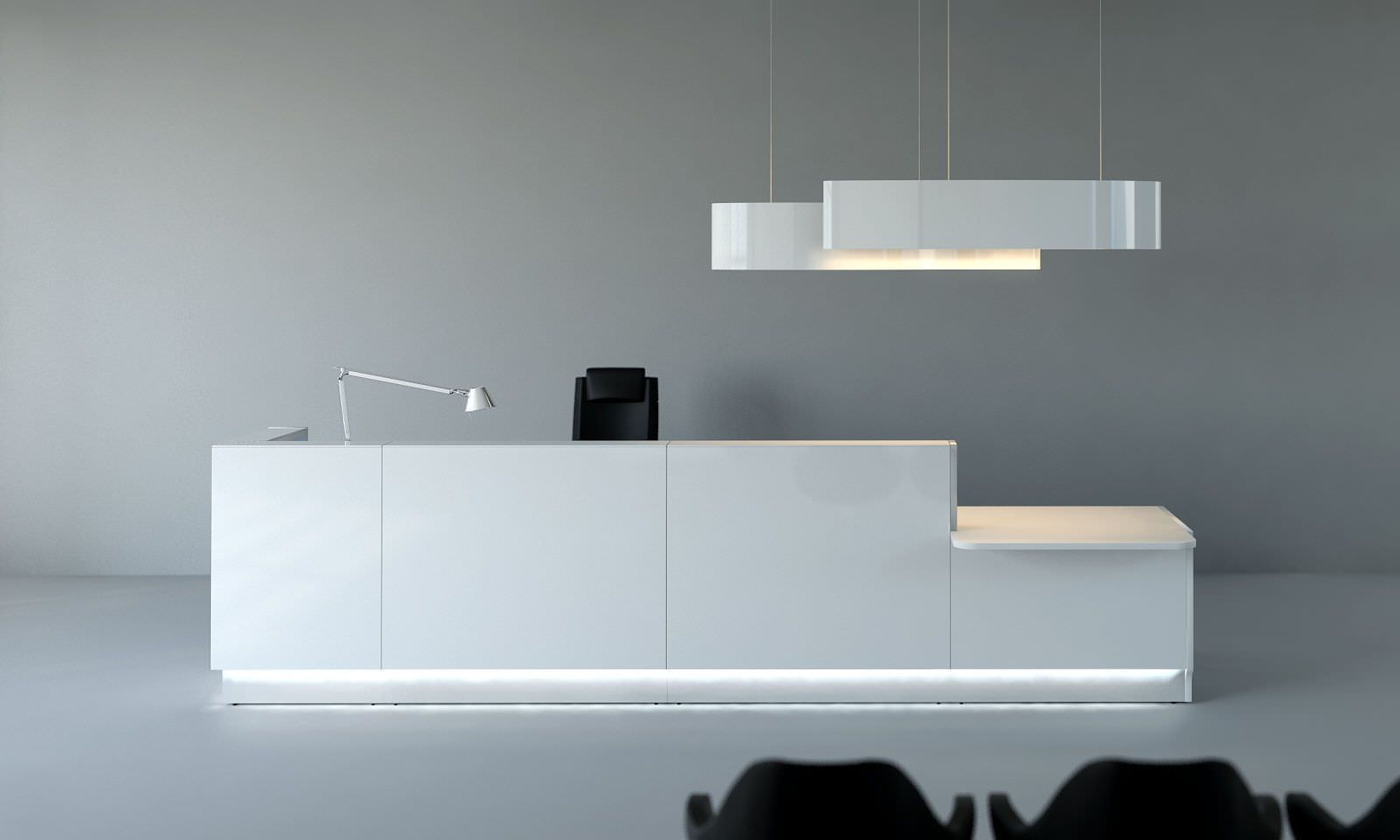 Light Reception Desk Linea Mdd Reception Desk Glass