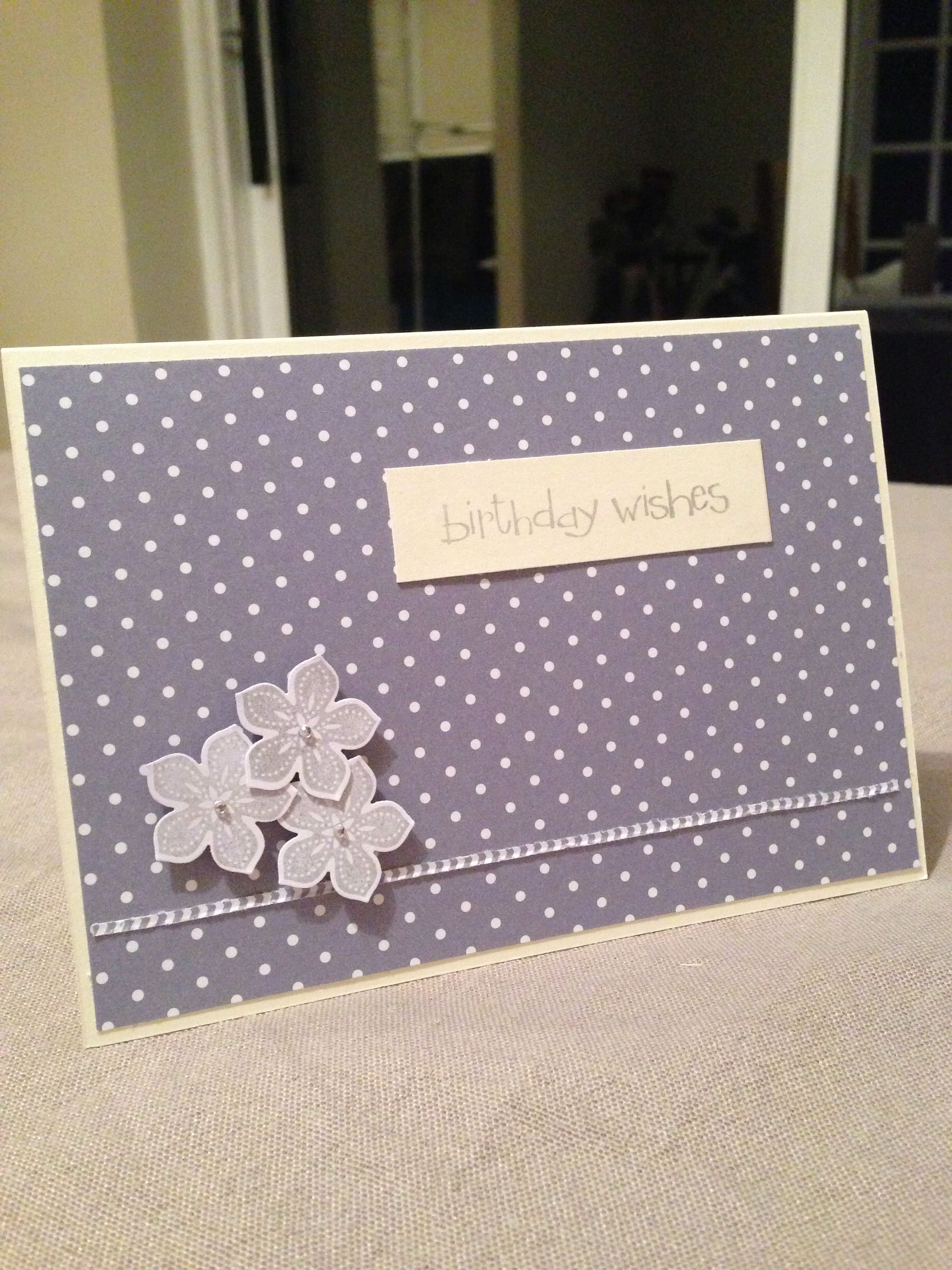 'Birthday wishes' Stampin Up / DSP / Petal punch