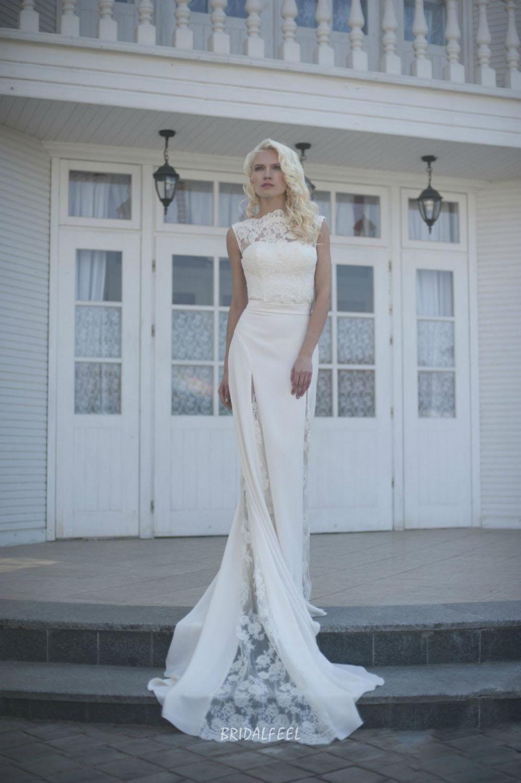 Sleeveless Lace Chiffon Short Fall Wedding Dress With Long Overskirt In 2021 Lace Wedding Dresses Uk Knee Length Wedding Dress Etsy Wedding Dress [ 1500 x 998 Pixel ]