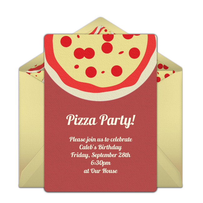 free pizza party invitations in 2018 party idea pinterest