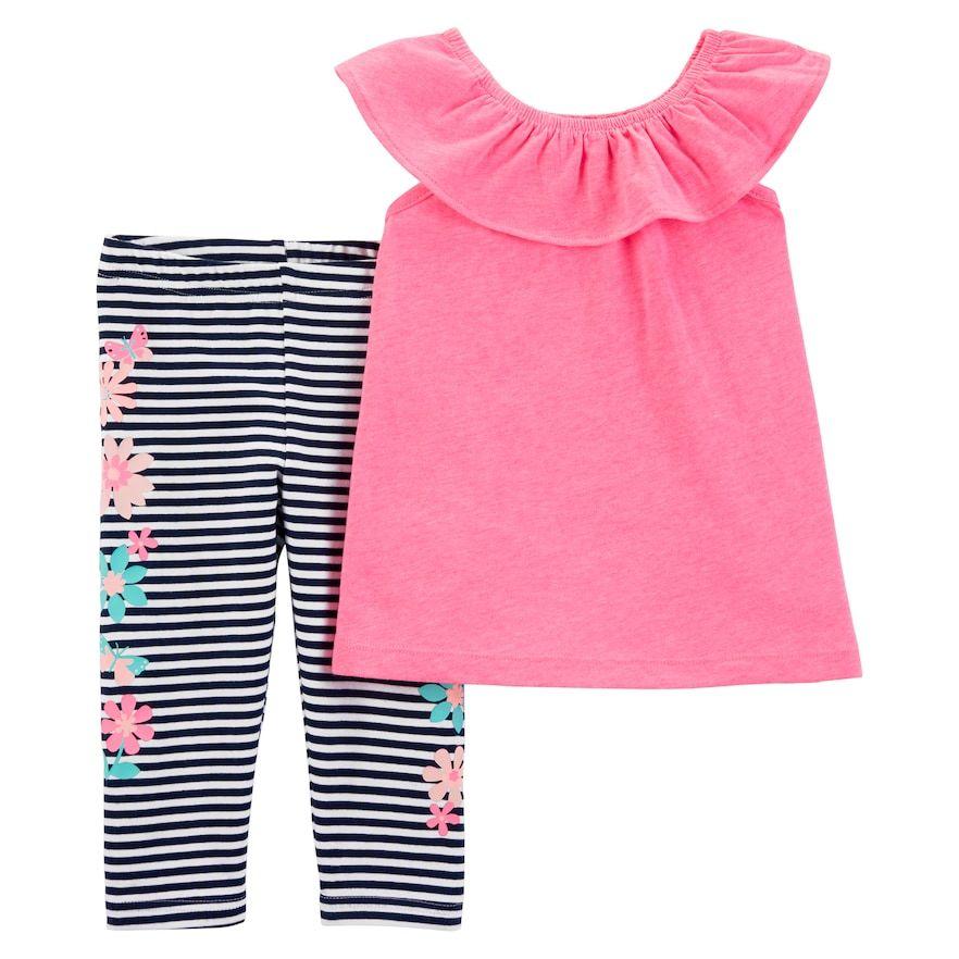 Carters Baby Girls Capri Leggings 9 Months Pink