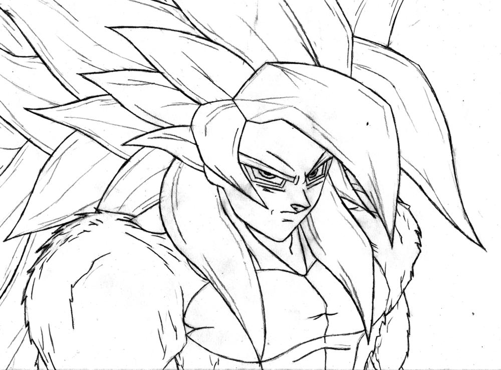 Goku Niño Para Colorear: Dibujo De Gocu Para Iluminar E Imprimir