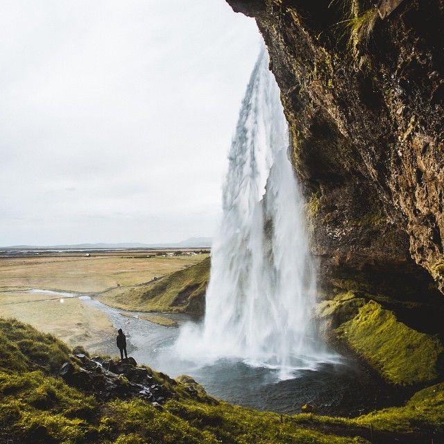 upknorth:  Nomad's land.  Exploring Seljalandsfoss, Iceland by @christianmcld