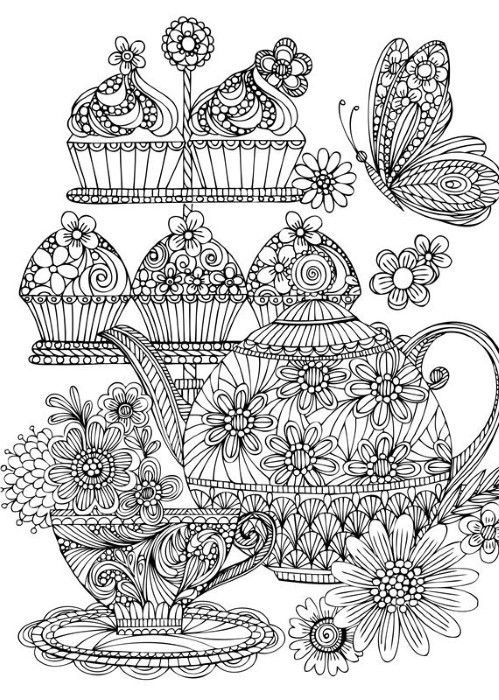 Cupcake Colouring Coloring Books Adult Coloring Coloring Pages