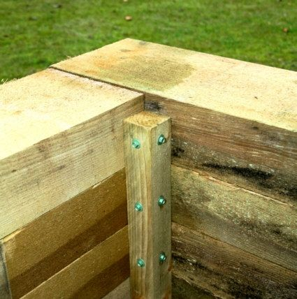 railway sleeper planter raised beds