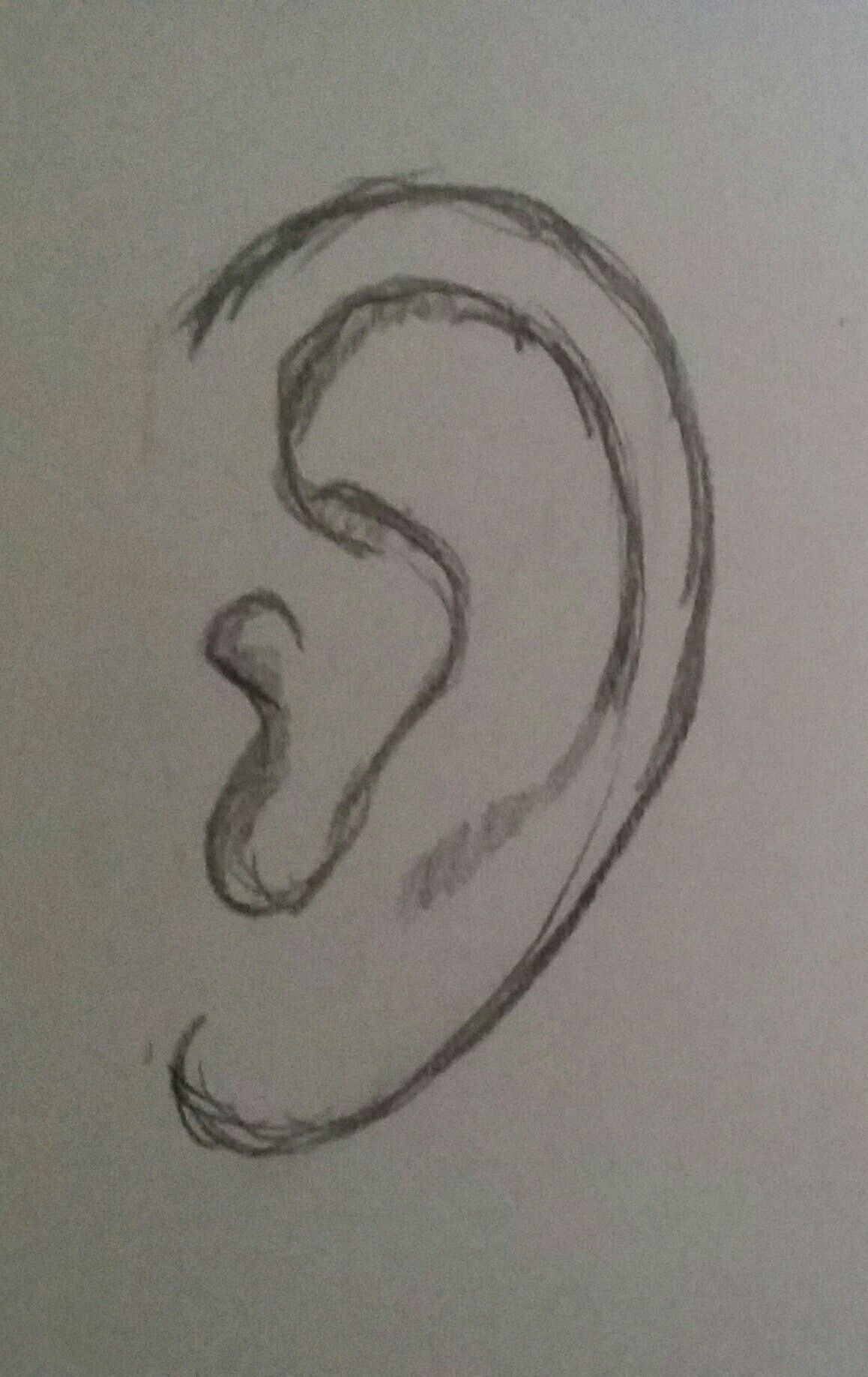 Easy Ear Pencil Drawing Pencil Drawings Easy Pencil Art Drawings Art Drawings Sketches Simple