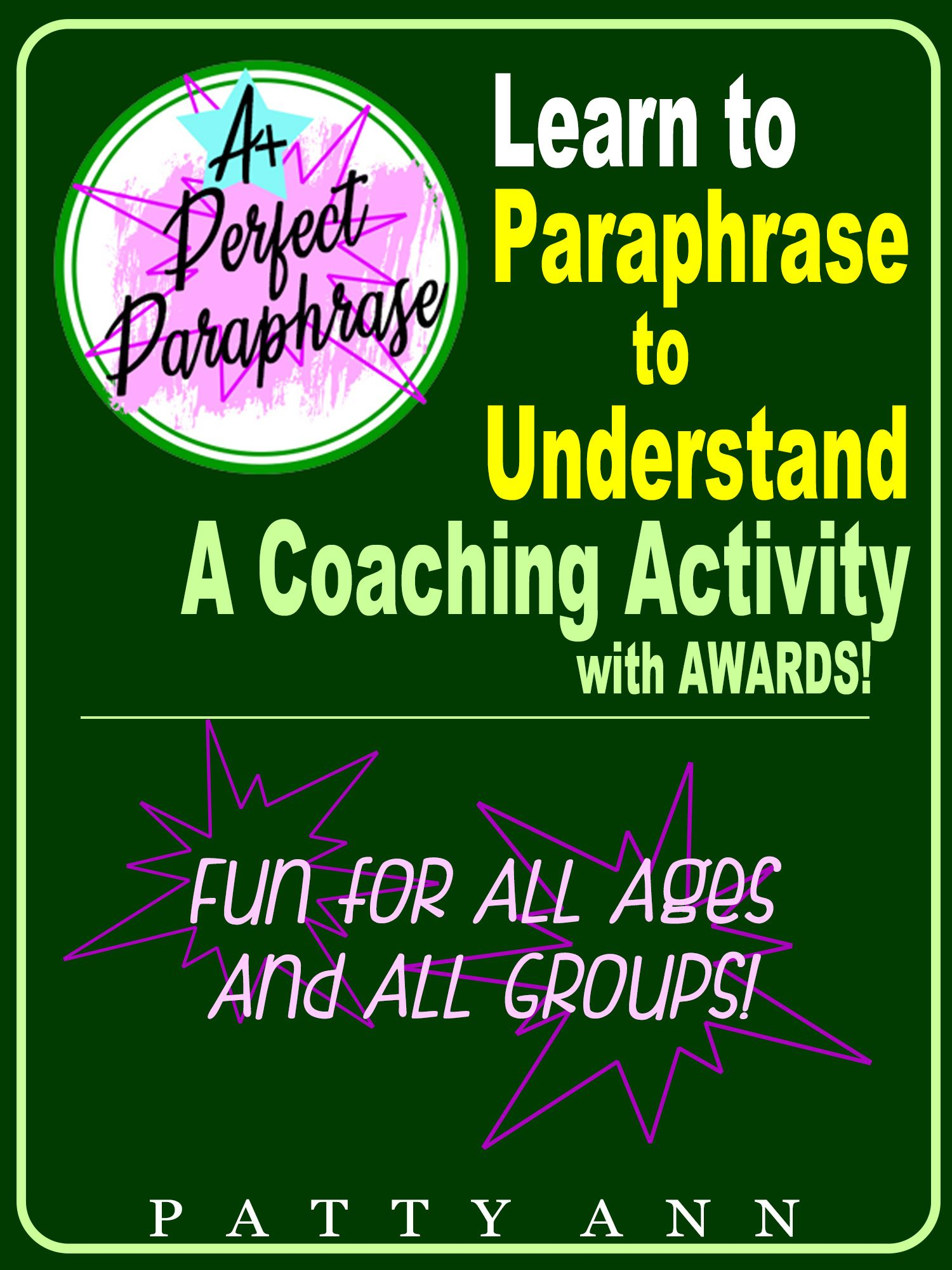 Paraphrase 2 Understand Patty Ann In 2020 Teaching Technique Learned Behavior Communication Skills Paraphrasing Oral