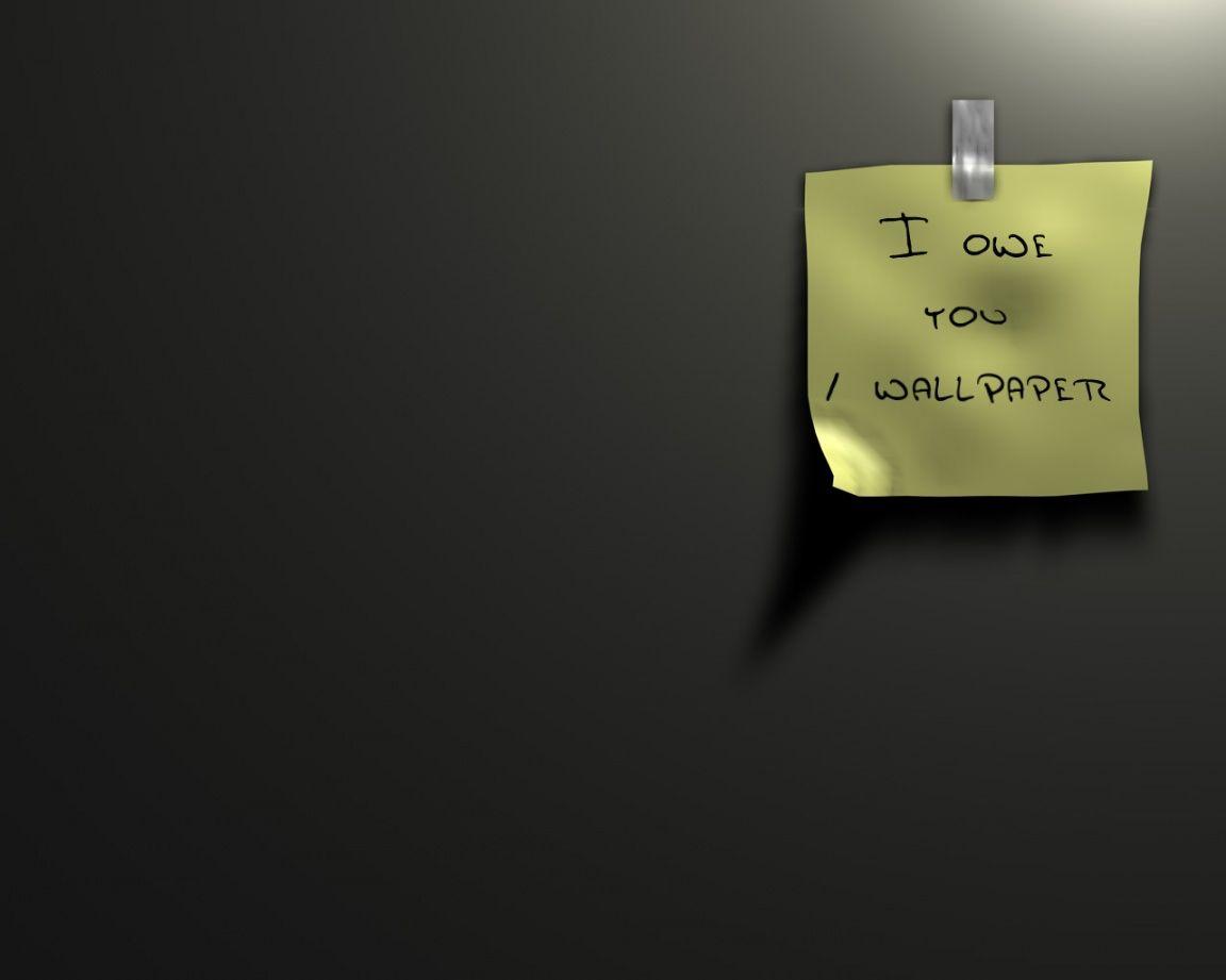 Sticky Note IOU Wallpaper