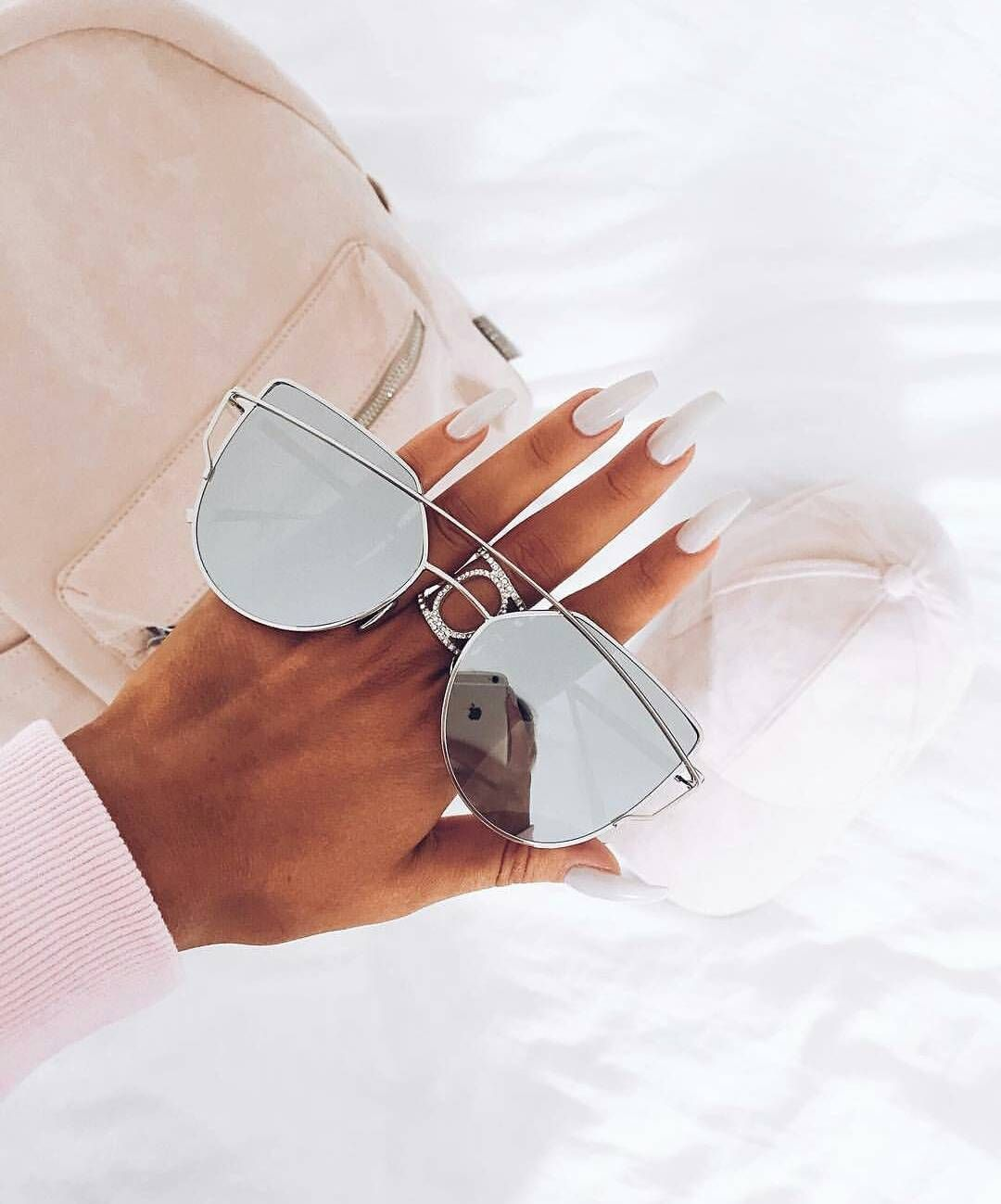 8d0b9c655488 Cat Eye Sunglasses, Mirrored Sunglasses, Nail Inspo, Sunnies, Cuff  Bracelets, Shades