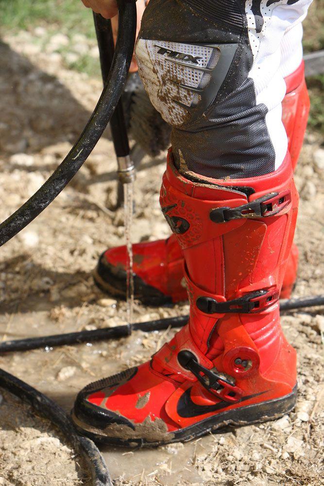 Red Nike Motocross Boots Kicks Pinterest Motocross