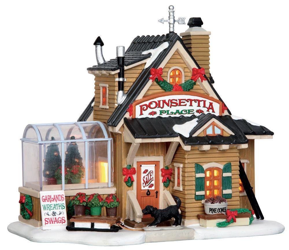 Maison Village De Noel Poinsettia Place   Lemax Christmas Village | Maison, Fêtes